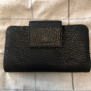All saints well loved black pebbles wallet.